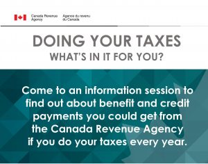 tax info session poster