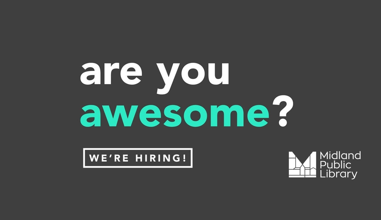 we're hiring! click for link